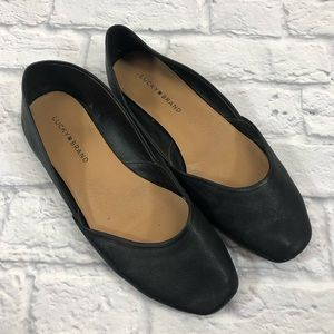 Lucky Brand leather Flats shoes. Size 10 *